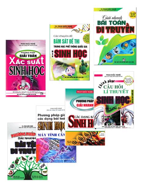 Bộ sách ôn tập môn Sinh học của tác giả Phan Khắc Nghệ